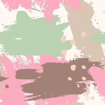 Padrão sem emenda abstrato de traçados de pincel. fundo colorido grunge para impressão de cartaz, folheto, cartão, impressão, têxtil, capa. design moderno e minimalista nas cores rosa e menta.