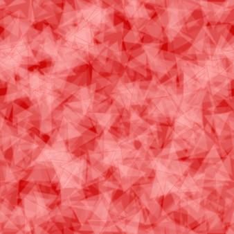 Padrão sem emenda abstrato de triângulos translúcidos distribuídos aleatoriamente em cores vermelhas