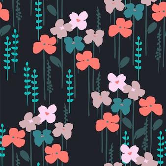 Padrão sem emenda abstrato floral.