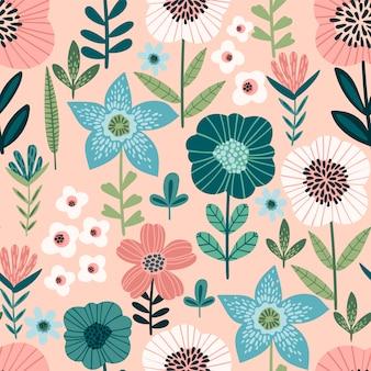 Padrão sem emenda abstrato floral