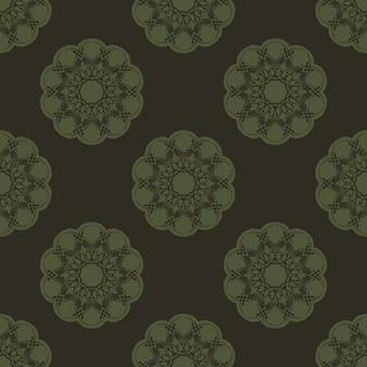 Padrão sem emenda abstrato geométrico verde. vetor gráfico de fundo