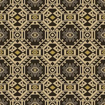 Padrão sem emenda antigo de geometria de verificação de polígono aborígene quadrado cruzado triângulo