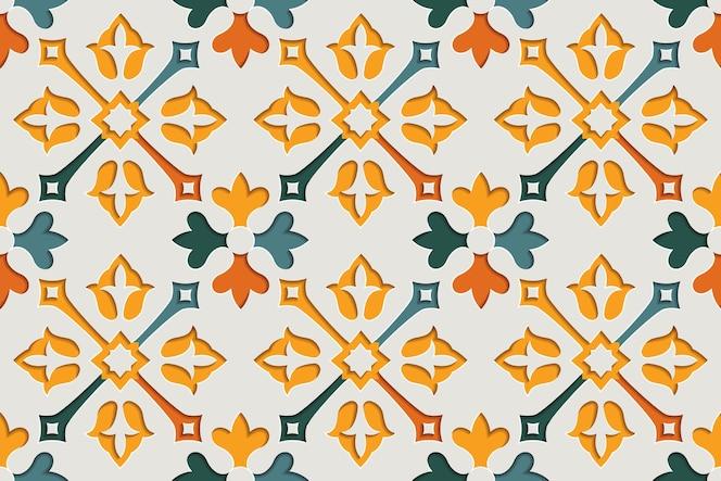 Padrão sem emenda árabe floral abstrato arabesco. fundo de estilo de papel com motivo oriental