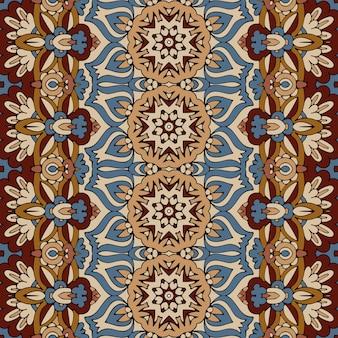 Padrão sem emenda arte africana batik ikat. projeto vintage étnico.