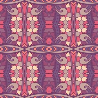 Padrão sem emenda arte africana batik ikat.