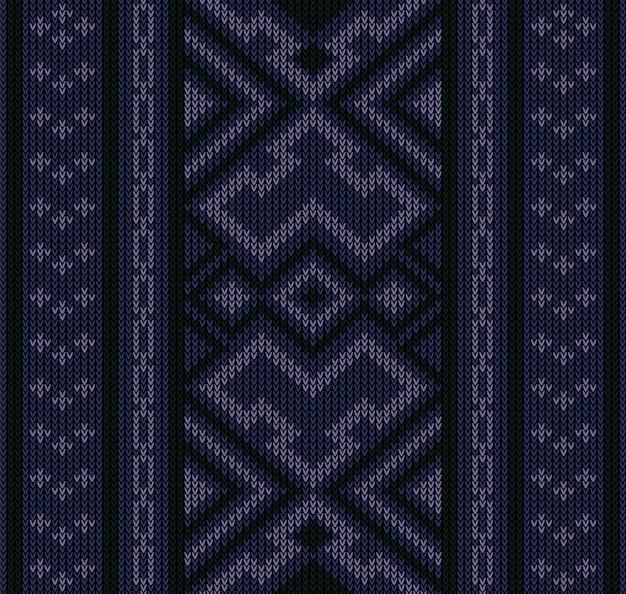 Padrão sem emenda asteca tribal abstrata