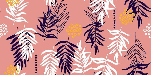 Padrão sem emenda botânico. desenho vetorial para papel, tecido, decoração de interiores e capa