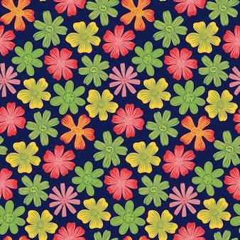Padrão sem emenda botânico floral botão flowernature fundo imprimir papel de parede decorativo
