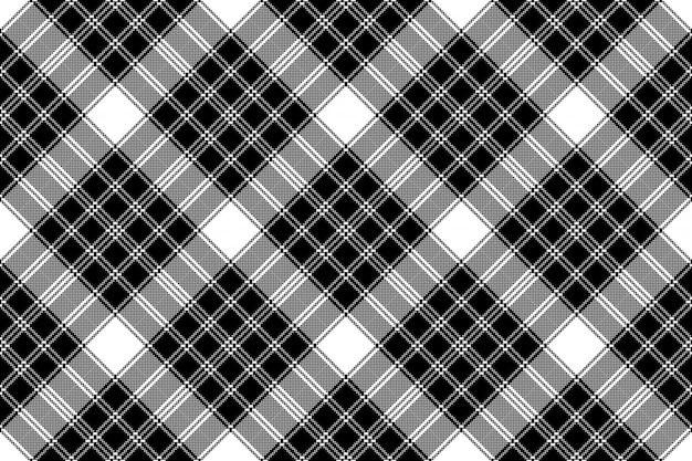 Padrão sem emenda branco clássico pixel xadrez preto