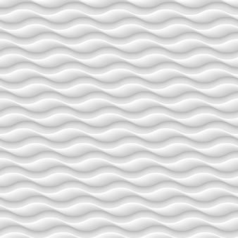 Padrão sem emenda branco, textura de ondas abstratas