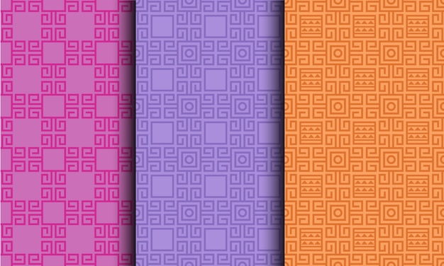 Padrão sem emenda brilhante de estilo tribal geométrico abstrato