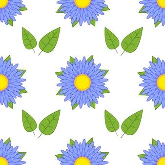 Padrão sem emenda colorido de flores abstratas
