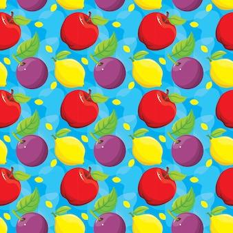 Padrão sem emenda colorido de frutas