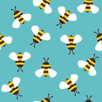 Padrão sem emenda com abelhas.