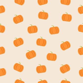 Padrão sem emenda com abóbora outono outono feriados gráficos vetoriais