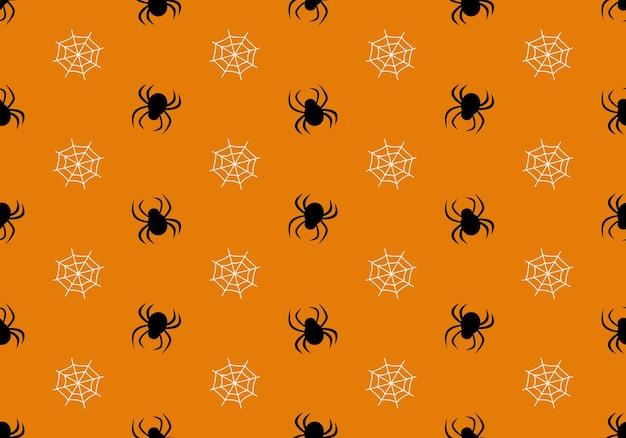 Padrão sem emenda com aranhas e web halloween decoração festa fundo festivo para papel textil ...