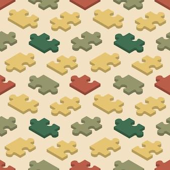 Padrão sem emenda com as peças do quebra-cabeça