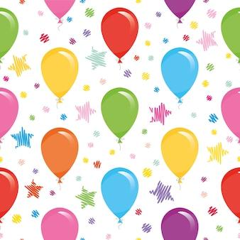 Padrão sem emenda com balões coloridos