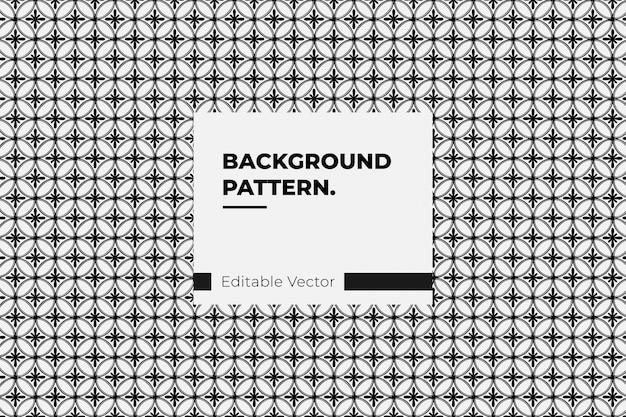 Padrão sem emenda com base no ornamento geométrico japonês. preto e branco
