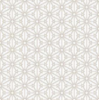 Padrão sem emenda com base no ornamento japonês kumiko
