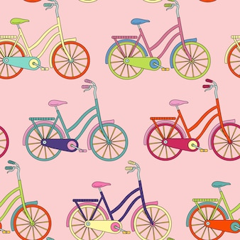 Padrão sem emenda com bicicleta