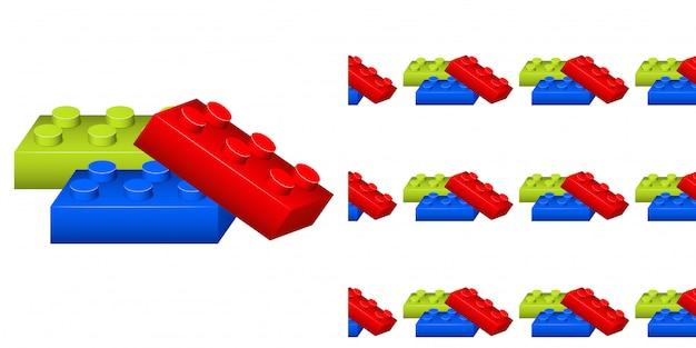 Padrão sem emenda com blocos coloridos