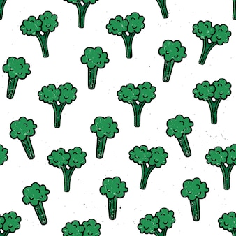 Padrão sem emenda com brócolis.