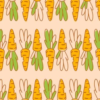 Padrão sem emenda com cenouras