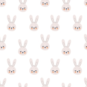 Padrão sem emenda com coelhos fofos