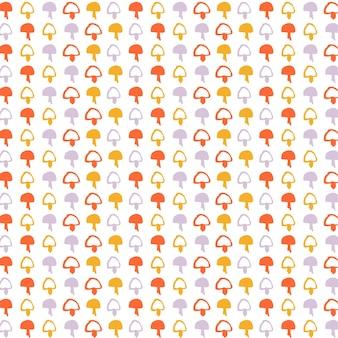 Padrão sem emenda com cogumelos coloridos fundo de outono perfeito para tecido