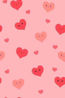 Padrão sem emenda com corações bonitos.