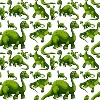 Padrão sem emenda com desenho animado de dinossauros de fantasia