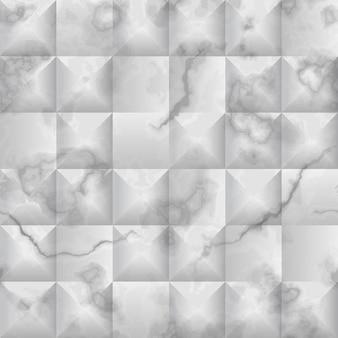Padrão sem emenda com elementos geométricos 3d de mármore branco para fundos de decoração de interiores