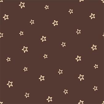 Padrão sem emenda com estrelas nas cores boho