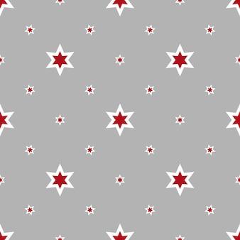 Padrão sem emenda com estrelas retratadas na superfície cinza. ilustração vetorial