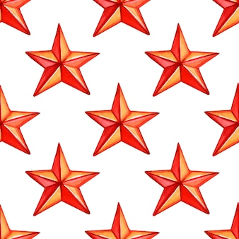 Padrão sem emenda com estrelas vermelhas ilustração em vetor padrão feriado de natal