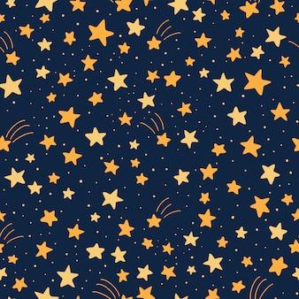 Padrão sem emenda com estrelas