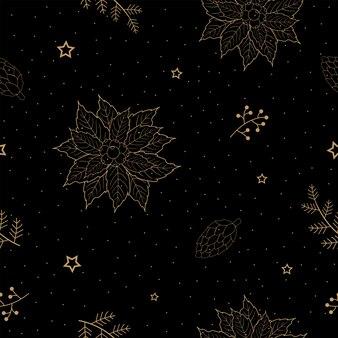 Padrão sem emenda com férias de natal para papel de embrulho decorativo ou papel de parede