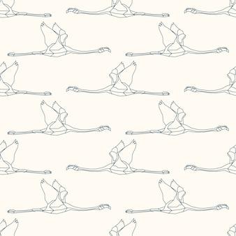 Padrão sem emenda com flamingo