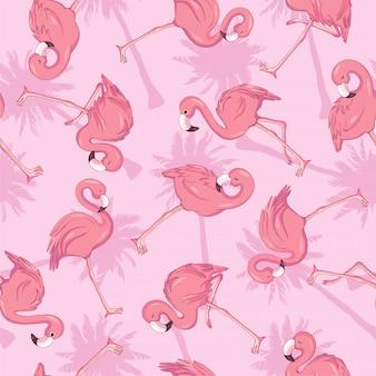 Padrão sem emenda com flamingos