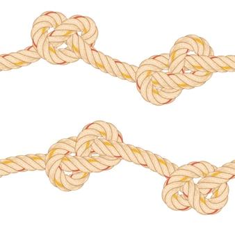 Padrão sem emenda com flexão de corda.