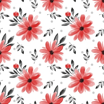 Padrão sem emenda com flor bonita no fundo branco.