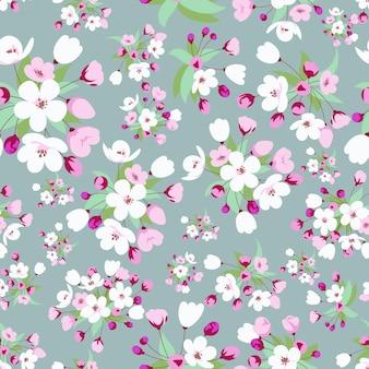 Padrão sem emenda com flor de cerejeira