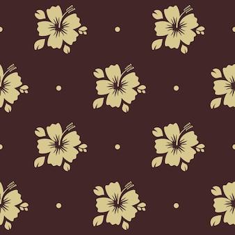 Padrão sem emenda com flor. decoração de fundo floral com planta,