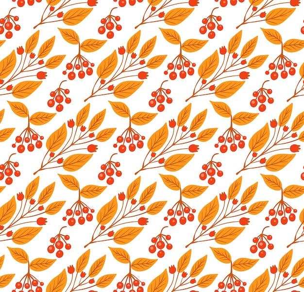 Padrão sem emenda com folhas de outono coloridas. ilustração vetorial
