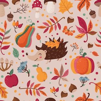 Padrão sem emenda com folhas de outono