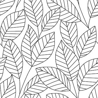 Padrão sem emenda com folhas. ilustração vetorial, pode ser usado como cartão de felicitações, têxteis, scrapbook, papel de parede, aniversário e outras férias e fundo bonito.