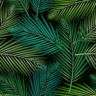 Padrão sem emenda com folhas tropicais