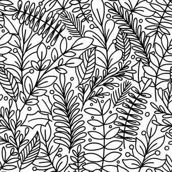 Padrão sem emenda com folhas