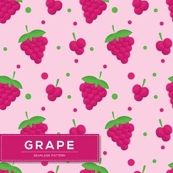 Padrão sem emenda com frutas de uva